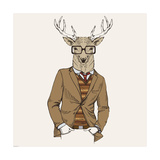 Deer in Suit Giclee Print