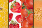 Collage of Four Seasonal Fruits Photographic Print by  YellowPaul