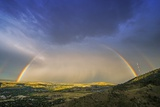 Rainbow over Denver Photographic Print by Tomasz Zajda