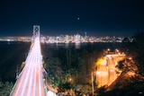 San Francisco Bay Bridge Night Cityscape Photographic Print