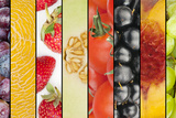 Collage of Seasonal Summer Fruits Photographic Print by  YellowPaul