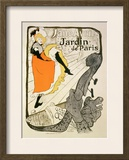 "Reproduction of a Poster Advertising ""Jane Avril"" at the Jardin De Paris, 1893 Framed Giclee Print by Henri de Toulouse-Lautrec"