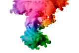 Rainbow of Acrylic Ink in Water. Color Explosion Fotografie-Druck von  Casther