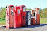 Vintage Abandoned Gas Tanks at Stations Photographic Print by Christin Lola