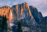 Warm Light and Chilly Yosemite Falls, Yosemite Valley Photographic Print