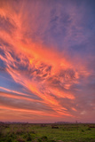 Big Sky at Sunset, Central California Photographic Print