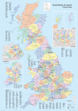 UK Political Map Poster