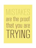 Mistakes Giclee Print