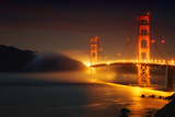 Classic Golden Gate and Approaching Fog, San Francisco Photographic Print