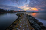 Sunrise Pier at Fort Baker, Sausalito California Photographic Print