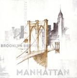 Pont de Brooklyn, New York Affiches par Avery Tillmon