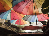 Rainbow Umbrellas Photographic Print by  triplet2012