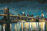 Bright City Lights Blue I Poster by James Wiens