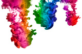 Rainbow of Acrylic Ink in Water. Color Explosion Photographic Print by  Casther