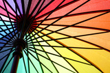 Inside Colorful Umbrella Photographic Print by Christin Lola