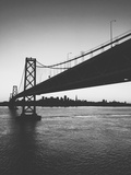 Classic San Francisco Bay Bridge in Black and White Photographic Print