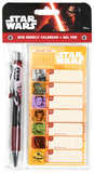 Star Wars Episode VII - Weekly Calendar with Pen Calendars