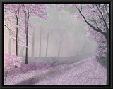 Morning Walk Framed Canvas Print by Herb Dickinson