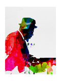 Thelonious Watercolor Metal Print by Lora Feldman