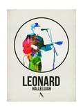 Leonard Watercolor Prints by David Brodsky