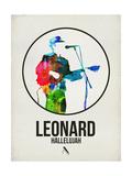 Leonard Watercolor Prints by David Brodsky