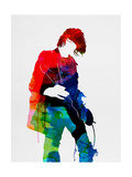 Kurt Watercolor Metal Print by Lora Feldman