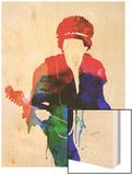 Jimi Watercolor Prints by Lora Feldman