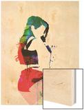 Iggy Watercolor Wood Print by Lora Feldman