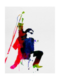 Bono Watercolor Metal Print by Lora Feldman