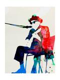Lora Feldman - Johnny Lee Hooker Watercolor Obrazy
