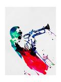 Lora Feldman - Miles Watercolor - Poster