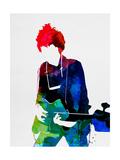 Bob Watercolor Alu-Dibond von Lora Feldman