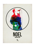 Noel Watercolor Affiches par David Brodsky