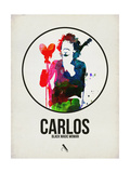 Carlos Watercolor Prints by David Brodsky
