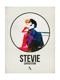 Stevie Watercolor Poster by David Brodsky