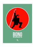 Bono Print by David Brodsky
