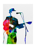 Leonard Watercolor Metal Print by Lora Feldman
