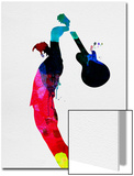 Roger Watercolor Poster par Lora Feldman