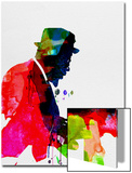 Thelonious Watercolor Poster by Lora Feldman