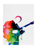 BB King Watercolor Metal Print by Lora Feldman