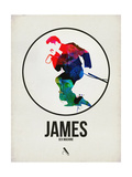 James Watercolor Plakater af David Brodsky