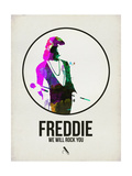 Freddie Watercolor Posters by David Brodsky