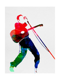 Elvis Watercolor Metal Print by Lora Feldman