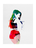 Iggy Watercolor Metal Print by Lora Feldman