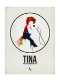Tina Watercolor Affiches par David Brodsky