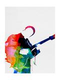 BB King Watercolor Plakat af Lora Feldman