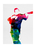 Johnny Watercolor Poster von Lora Feldman
