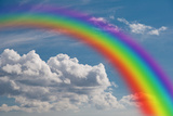 Rainbow in the Clouds. Photographic Print by  Garoth
