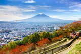 Aerial View of Mt.Fuji, Fujiyoshida, Japan Photographic Print by  lkunl