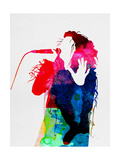 Lorde Watercolor Metal Print by Lora Feldman